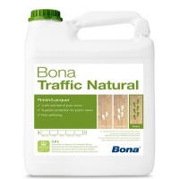 Bona Traffic Natural – воднодисперсионный двухкомпонентный лак (5 л), (полуматовый).