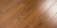 Ламинат Ecoflooring Коллекция Brush Wood  33/AC5  Дуб шоколад арт 528, размеры: 1215х166х12 мм